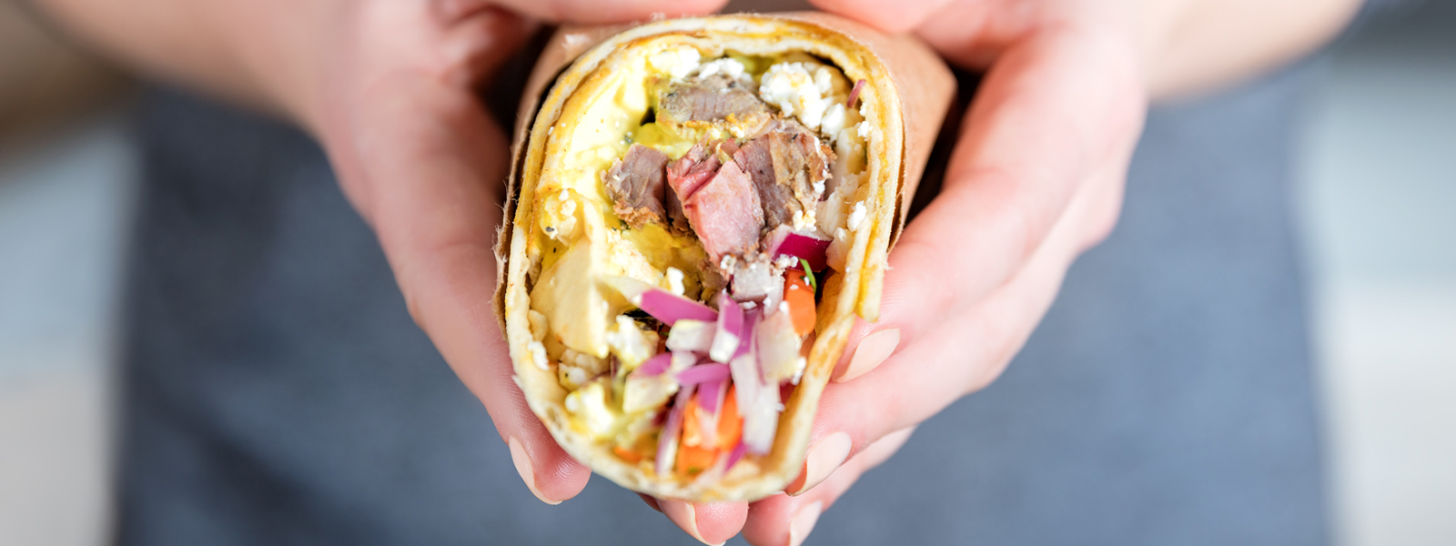 Kolkata Steak Wrap